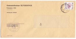 Enveloppe Omslag - Gemeentebestuur Elverdinge - Stempel Cachet 1976 - Stamped Stationery