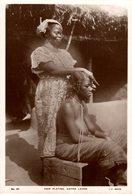SIERRA LEONA // SIERRA LEONE. HAIR PLATING. - REAL PHOTO - Sierra Leone