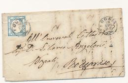1862 PROVINCE NAPOLETANE 2 GRANA ANNULLATO FOGGIA CERCHIO PICCOLO - Naples