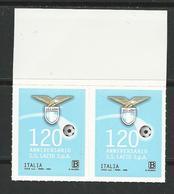 """2020 ITALIA - """"lo Sport"""" - S.S. Lazio S.p.A., Nel 120° Anniversario - COPPIA - Adesivi - 2011-...:  Nuevos"""
