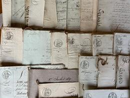 Lot De 1Kg800 D'actes Notariés / Maj. Dépt Yvelines 78 / Années 1810/1850 / Env. 85 Actes Divers - Cachets Généralité