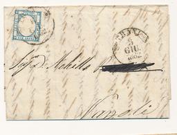 1862 PROVINCE NAPOLETANE 2 GRANA ANNULLATO TRANI CERCHIO - Napoli