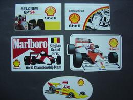 Lot De 5 Stickers - Autocollants - Formule 1 - Motorsport - Grand-prix Of Belgium - Automobilismo - F1
