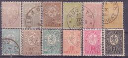 73-647 / BG - 1889/96  Small LEON  Mi 28/37 +44/45  O - Used Stamps