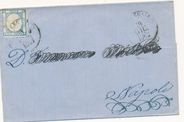 1862 PROVINCE NAPOLETANE 2 GRANA ANNULLATO BISCEGLIE CERCHIO - Neapel