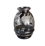 Vase Saint Graal Décor Argent 980 - Verre & Cristal