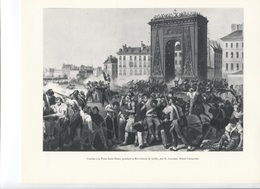 GRANDES FIGURES DE FRANCE - Combat à La Porte Saint Denis Pendant La Révolution De Juillet Par H Lecomte - Geschichte