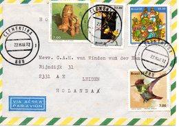 Brésil - Lettre Du 22/03/1982 à Destination Des Pays-Bas Avec 4 Timbres - Oiseau - Fleurs - Danse - Poterie - Brazilië