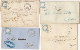 1861 PROVINCE NAPOLETANE 2 GRANA ANNULLATI GERACE,BISCEGLIE,TERAMO,ORTONA,FOGGIA,COSENZA,OTRANTO,MAGLIE,LANCIANO,BENEVEN - Napoli
