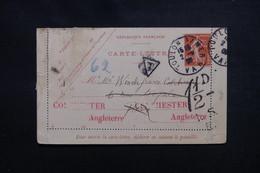 FRANCE - Entier Postal Type Semeuse De Toulon Pour Colchester En 1908, Taxe De Colchester - L 50855 - Entiers Postaux