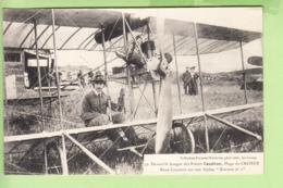Aviateur René CAUDRON Sur Son Biplan Romiotte N°2 - Hangar Des Frères Caudron - Plage Du CROTOY - TBE - RARE - 2 Scans - Airmen, Fliers