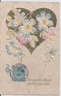 Cpa Gaufrée Charmantes Fleurs - Fancy Cards