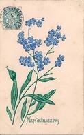 Cpa Gaufrée Fleurs - Fancy Cards