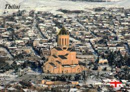 1 AK Georgien * Blick Auf Die Hauptstadt Tbilisi - Im Vordergrund Die Sameba-Kathedrale - Luftbildaufnahme * - Georgien
