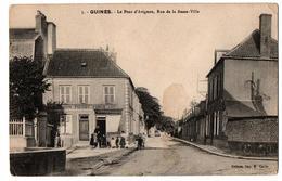 GUINES LE PONT D AVIGNON MARCHAND DE CHARBON ANIMEE - Guines