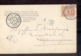 Zwolle Utrecht VI Grootrond Groningen - 1905 - Poststempel