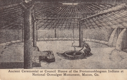 Macon , Georgia , 00-10s ; Protomuskhogean Indians , Council House - Indiens De L'Amerique Du Nord
