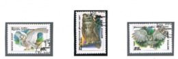 URSS - SG 6117.6119   - 1990 BIRDS: OWLS (COMPLET SET OF 3)   - USED° - RIF. CP - Usati