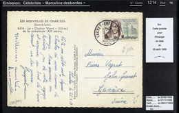 MAURY N°1214 - DESBORDES - S/CP PR SUISSE DU 25/8/1959 - Storia Postale