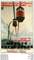 Cpsm Cpm Style Affiche P.LM 74 CHEMIN DE FER. Téléphérique De Megève à Rochebrune Par Michaud - Megève