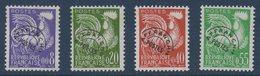 """FR 1960 Préo Série Des """"Coq"""" En Nouveaux Francs   N° YT Préo 119-122 ** MNH - Preobliterati"""