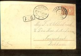 Dokkum 3 Langebalk - Frederixsoord Grootrond - 1911 - Marcophilie