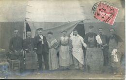 N°1225 T -carte Photo Mourmeland Le Grand -1905- - Kazerne