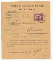 1876 SERVIZIO DI STATO 0,20 ANNULLO MANIAGO TIPO LOMBARDO VENETO - Storia Postale