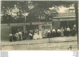 PARIS 20° Café Jeux De Boules Couverts Et éclairés. Pétanque Boulodrome 35 Boulevard Mortier. Bières Dumesnil à Bagnolet - Arrondissement: 20