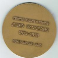 Luxembourg Cercle Numismatique 1874/1970 Jules Vannerus. - Entriegelungschips Und Medaillen