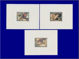 Tir (Armes) - Année: 1977 - GABON,YV. PA 199/201,3 EP. DE LUXE:Rubens*,lion*,chasse* Hippopotame*. - Tir (Armes)