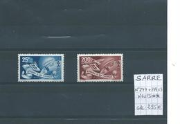 SARRE : N° 277 Et PA N°13 Neufs ** Superbes. Cote 295 € - Sellos