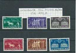 LUXEMBOURG : Série 443 à 448 Neufs ** Superbes. Cote 250 € - Sellos