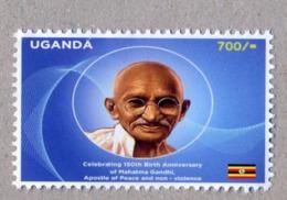 UGANDA 2019 New Stamp Issue GANDHI Birth Anniversary OUGANDA - Ouganda (1962-...)
