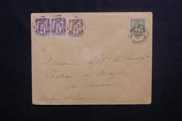 FRANCE - Entier Postal Type Sage + Compléments De Paris Pour Saumur En 1894 - L 50872 - Postal Stamped Stationery