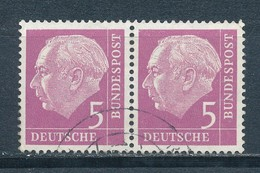 Bund 179 Waagerechtes Paar Gestempelt Mi. 7,50 - [7] République Fédérale