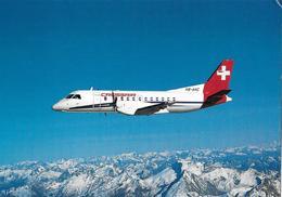AVIATIK / FLUGZEUGE → Crossair's Cityliner Over The Swiss Alps Mit Saab-Fairchild 340 Cityliner - Schweiz