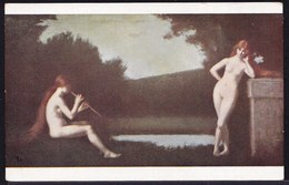 VIEILLE CPA ARTISTE - TABLEAU - PEINTURE - ART * J. HENNER - ECLOGUE * FILLES NUES - NU - Pittura & Quadri