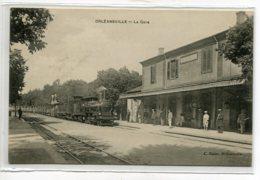 ALGERIE ORLEANSVILLE Carte RARE   Gare Des Voyageurs Arrivée Du Train Anim Quai Edit Gajac    D01 2020 - Algeria