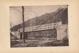 Planche Train Chemins De Fer Du Simplon Pont Sur Le Nibio Par Baume Et Marpent Haine Saint Pierre - Spoorweg