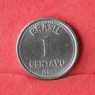 BRAZIL 1 CENTAVO 1986 -    KM# 600 - (Nº33222) - Brésil