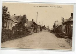 02 GROUGIS Carte RARE La Poste Du Village Grande Rue Edit Mora     D01 2020 - Other Municipalities