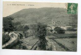 07 PEYRAUD Route Pont De Pierre Eglise Du Village 1915 écrite Timb     D01 2020 - France