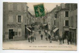 09 LAVELANET Commerce Pharmacie Anim Place Liberté Et Rue Nalieu 1917 Timb No 46 Coll V M    D01 2020 - Lavelanet