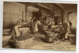 51 EPERNAY Plutot Rare  Maison Champagne De CASTELNAU    La Vendange Pressurage Des Raisins  1920   D01 2020 - Epernay