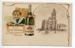 51 PUBLICITE Pour Le Sirop Champenois - Enfant Sortant De La Malle D'osier 1900    Dos Non Divisé   D01 2020 - Francia