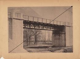 Planche Train Chemins De Fer Du Simplon Pont Sur Le Pozzeto à Ornavasso Par Baume Et Marpent Haine Saint Pierre - Spoorweg