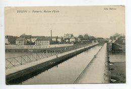 71 DIGOIN Canal Tannerie Et Maison D'Ecole écrite Par Militaire   D01 2020 - Digoin