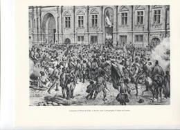 GRANDES FIGURES DE FRANCE - Lamartine à L'Hotel De Ville, 25 Février 1848 - Litho D'Adam Et Courtin - Histoire