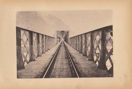 Planche Train Chemins De Fer Du Simplon Pont Sur Le Tocce à Vogogne Par Baume Et Marpent Haine Saint Pierre - Spoorweg